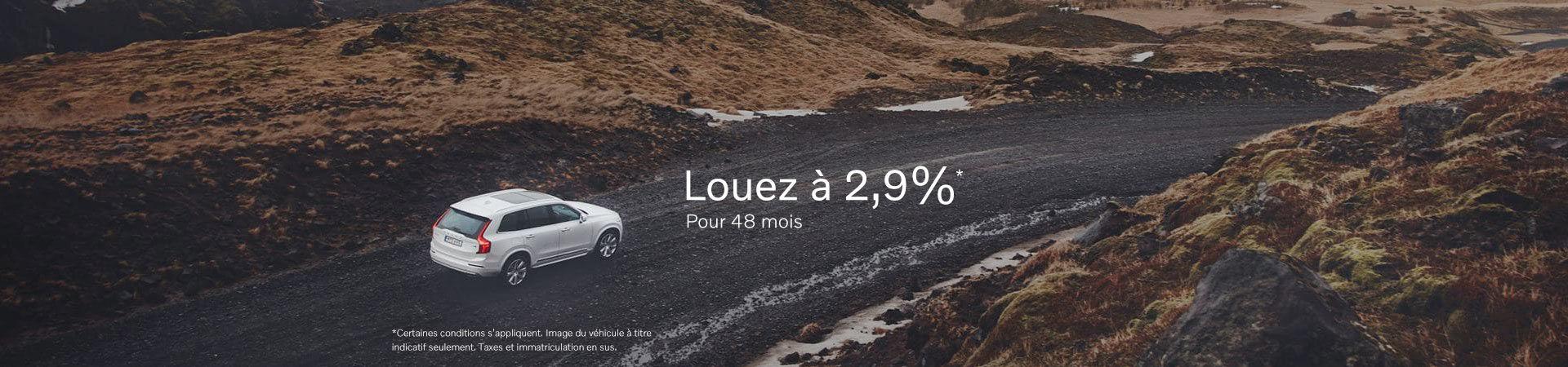 Louez à 2,9%