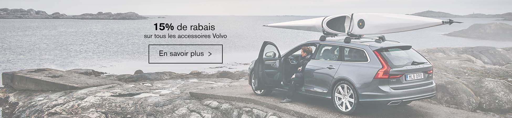 15% de rabais sur les accessoires d'origine Volvo