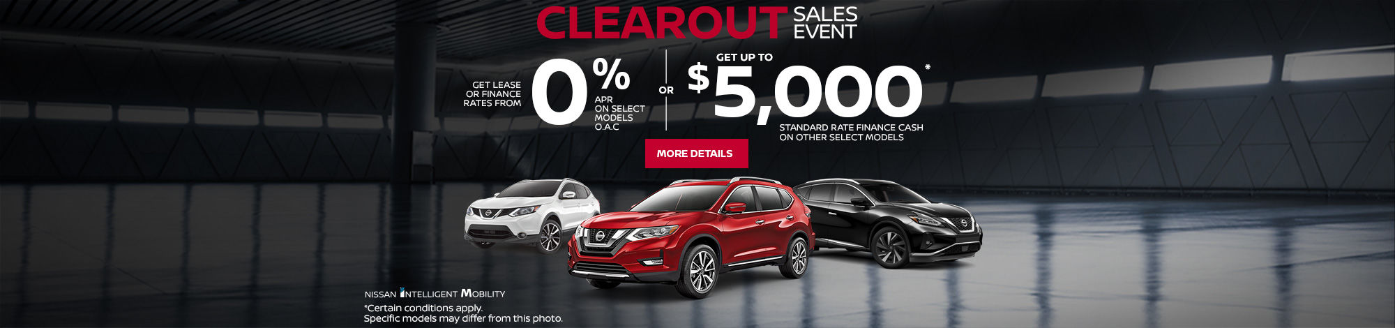 Nissan Clearout Sales Event