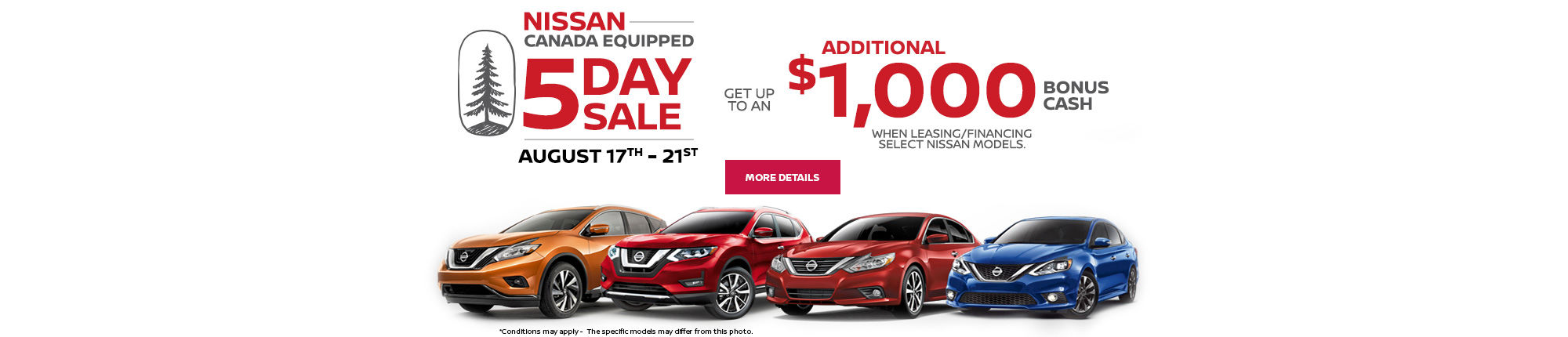 Nissan Canada Equipped 5 Day Sale