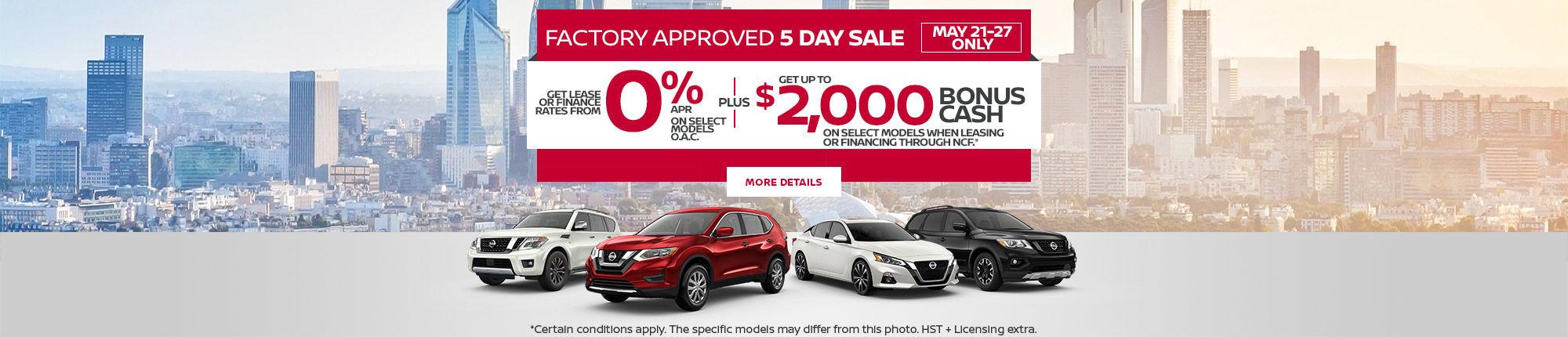 Nissan Event (5 days)