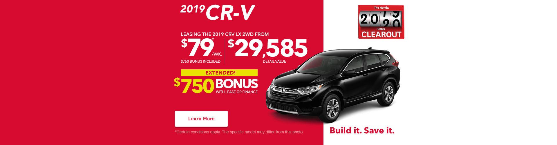 The 2019 CR-V