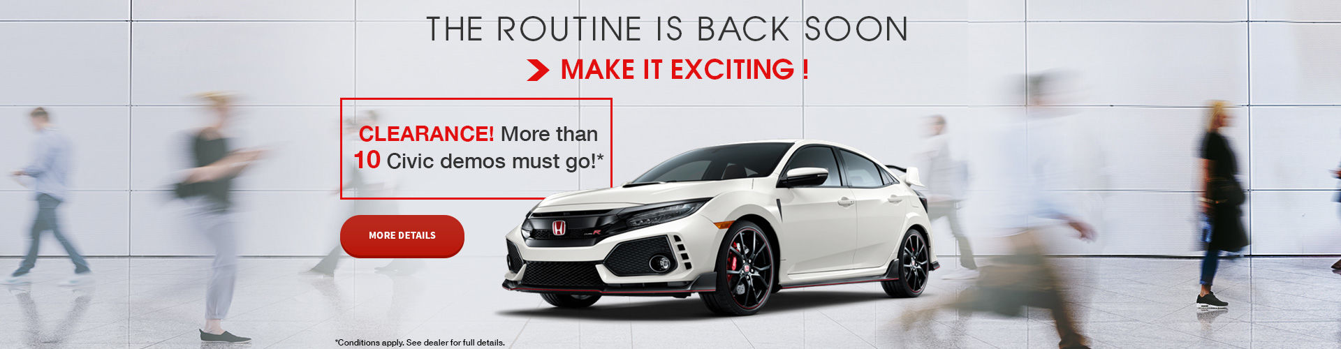 Clearance! More Than 10 Civic Demos to Go!
