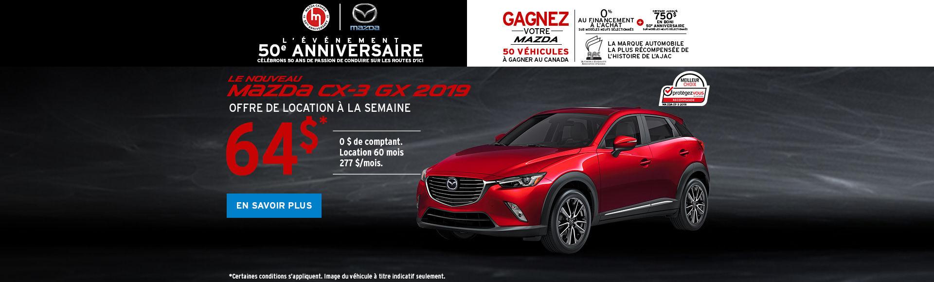 Obtenez le Mazda CX-3 2018
