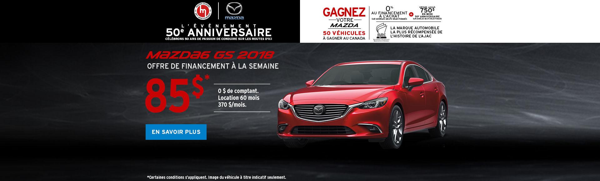 Obtenez la Mazda6 2018