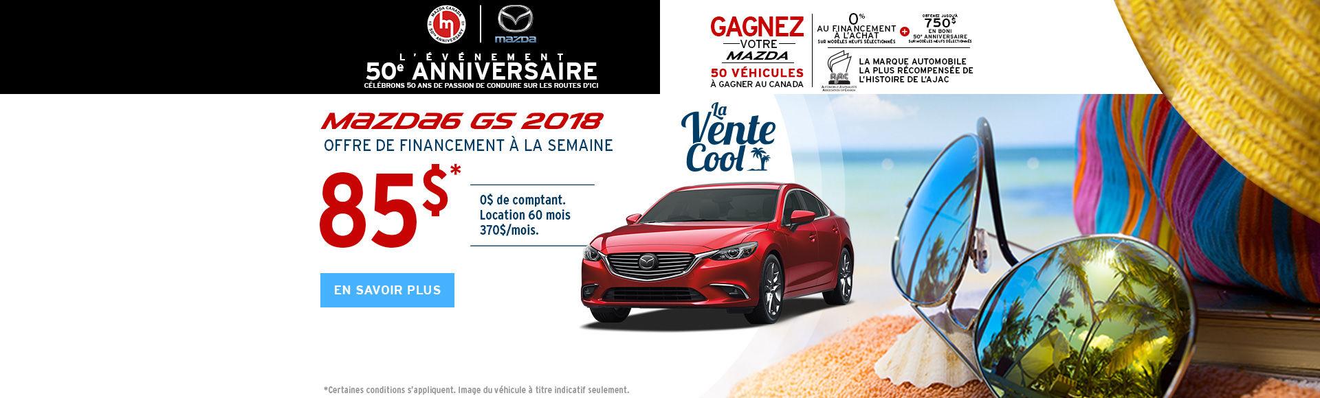 Obtenez la Mazda6 2018 - HEADERS