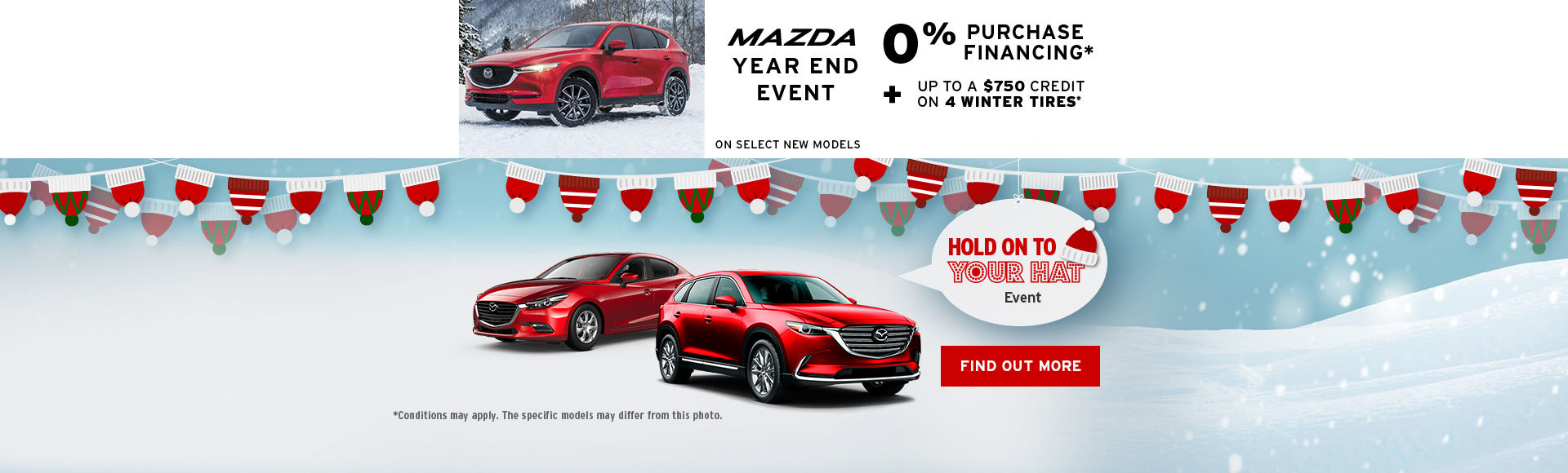 Mazda event! - hold on to your hat  - headers