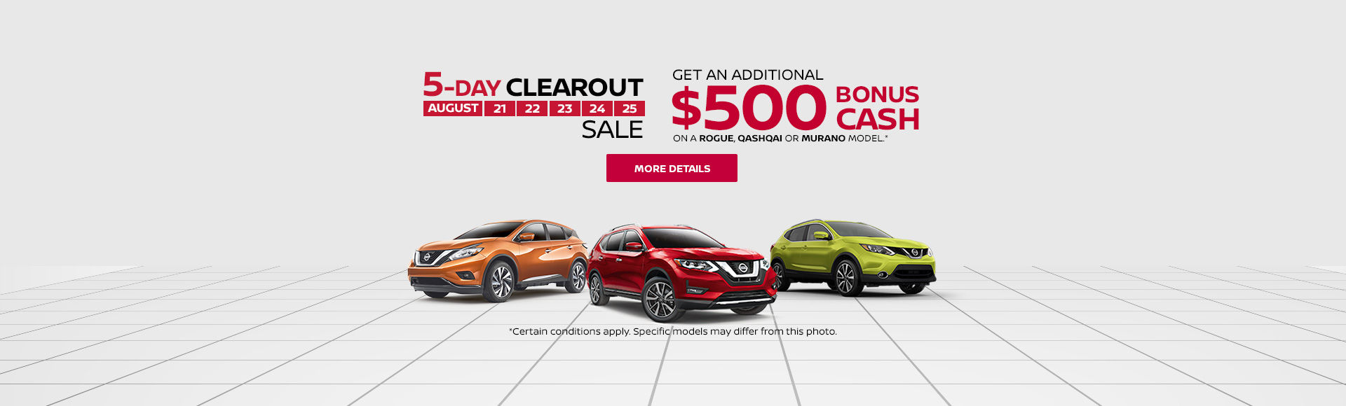 Nissan Clearout Event!