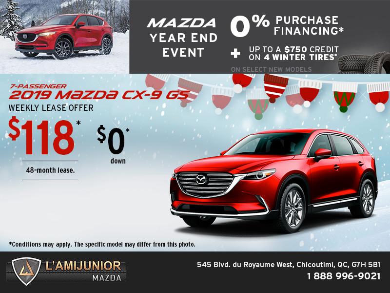 Get The 2019 Mazda Cx 9 At L Ami Junior Mazda Chicoutimi