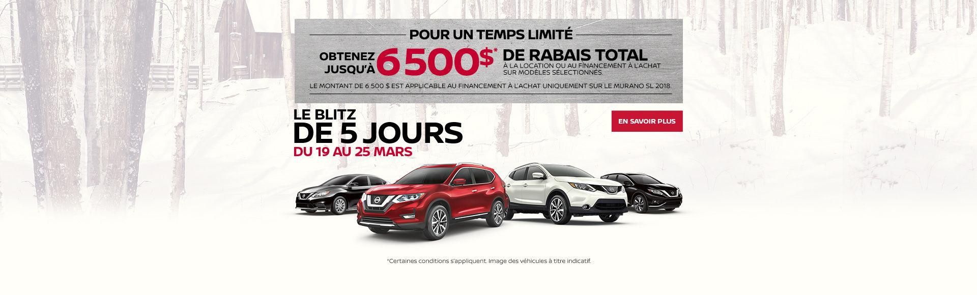 La vente de 5 jours de Nissan