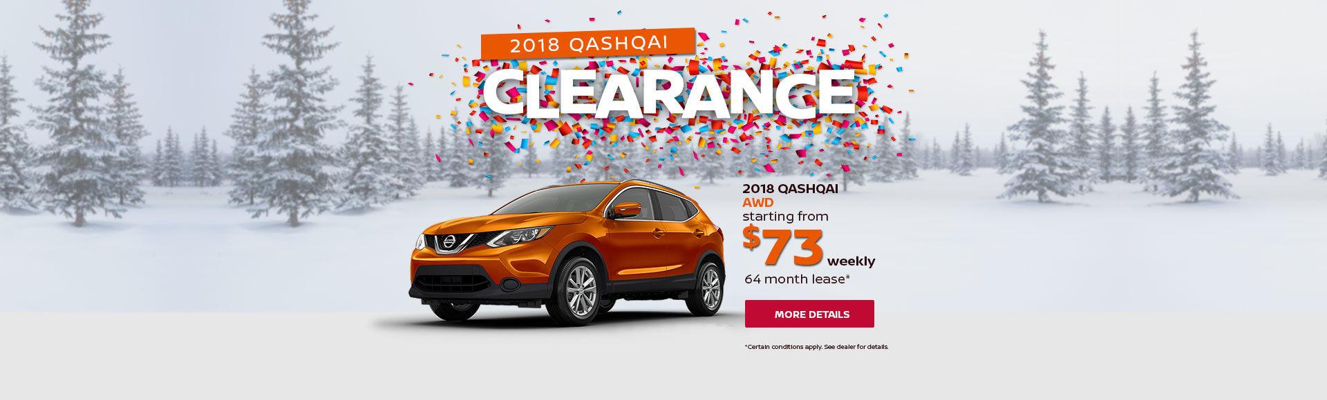 2018 Qashqai Clearance