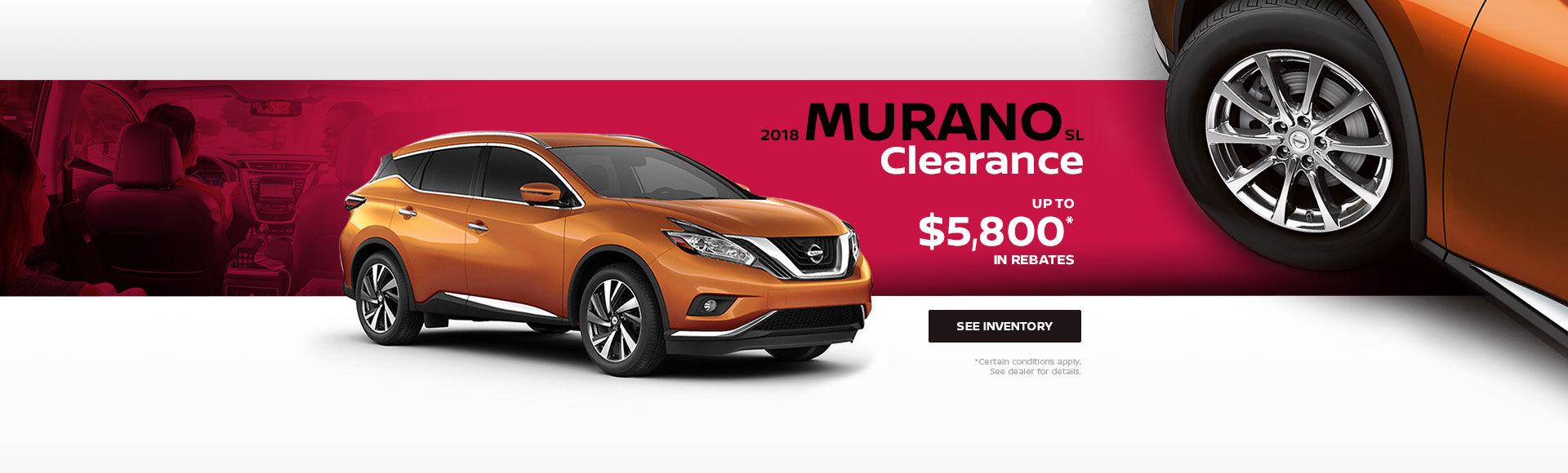2018 Murano Clearance