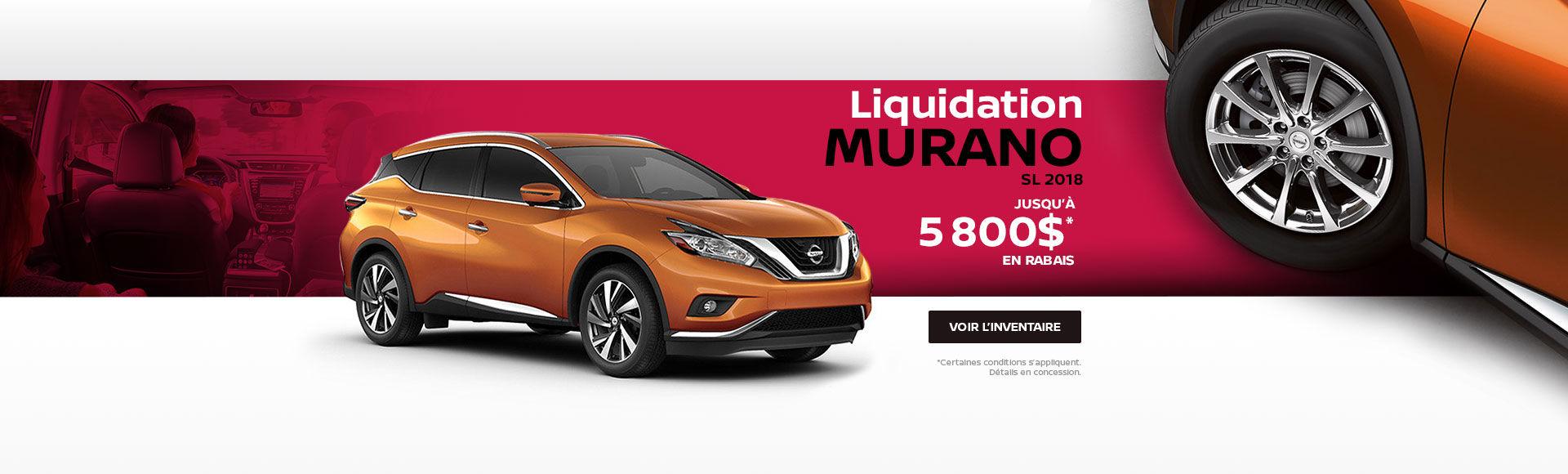 Liquidation Murano 2018
