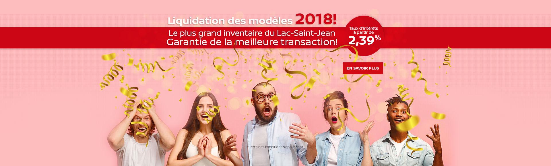 Liquidation des modèles 2018