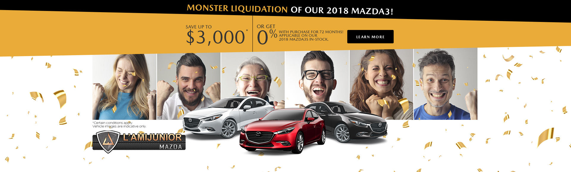 Monster Liquidation of our 2018 Mazda3s