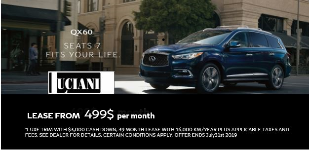 LUCIANI QX60 PROMOTION