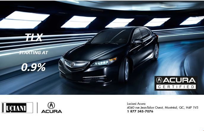 TLX FINANCING FROM 0.9%
