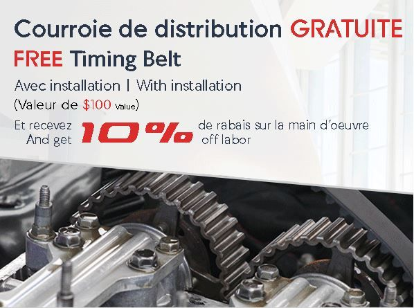 FREE Timing belt PROMOTION