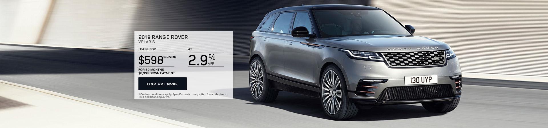The 2019 Range Rover Velar S