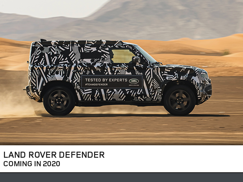 Land Rover Defender. Coming Soon.