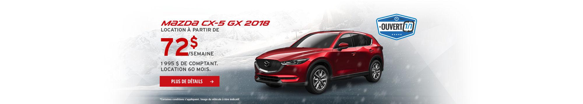 Roulez en Mazda CX5 2018