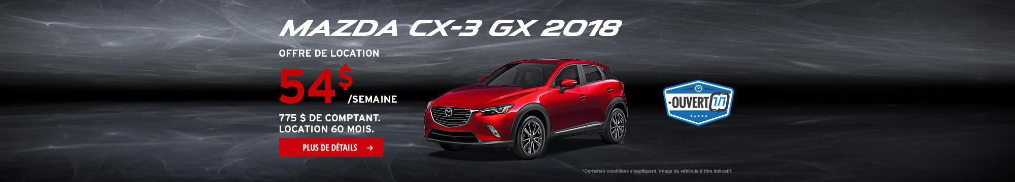 L'Événement Passez à Mazda - CX-3