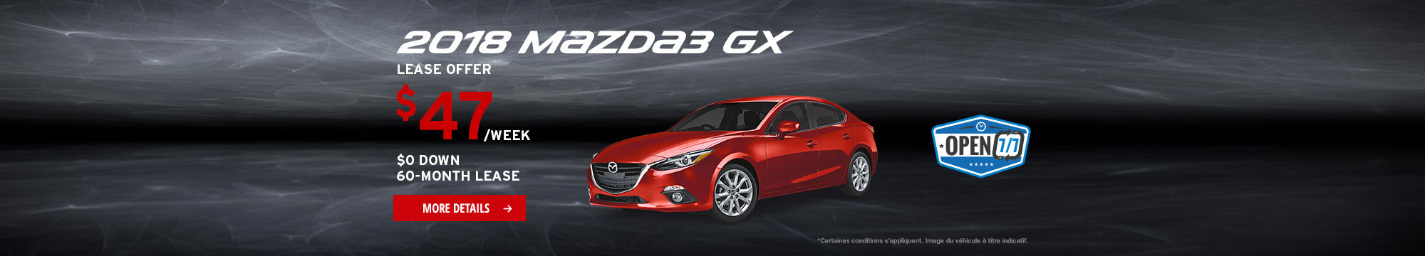 Upgrade to Mazda Event - Mazda3