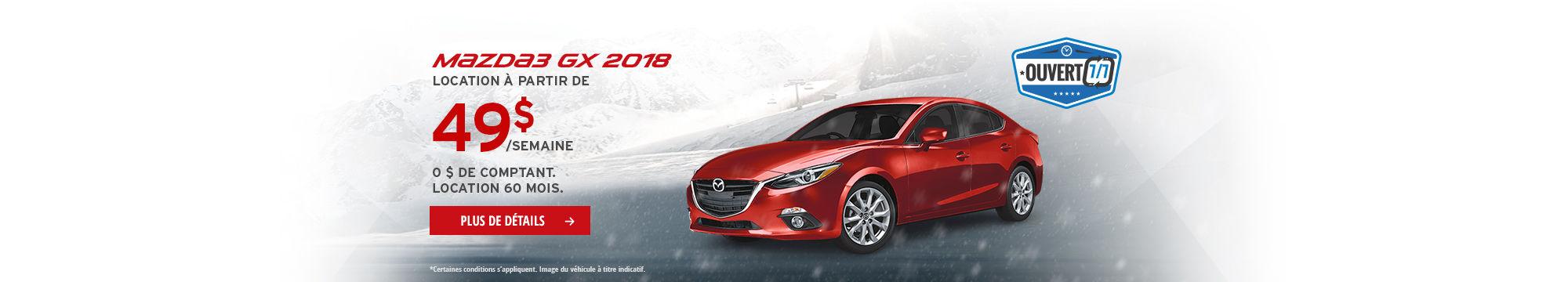 L'Événement Passez à Mazda - Mazda3