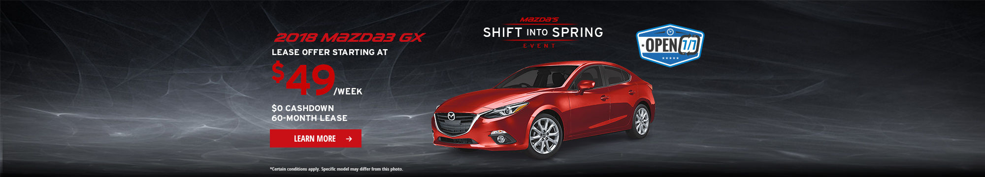 Shift into Spring Event - Mazda3