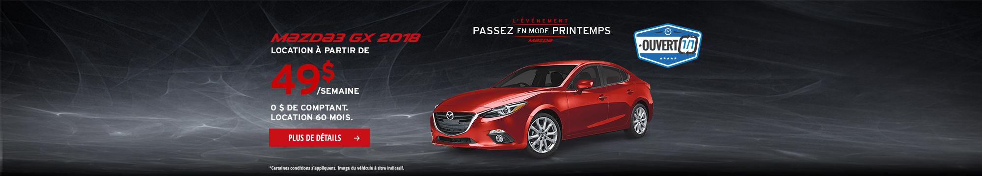 L'Événement Passez en mode printemps - Mazda3