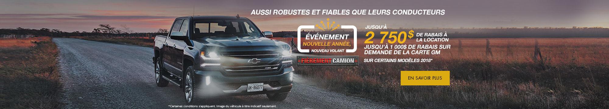 Nouvelle année, nouveau volant - Chevrolet