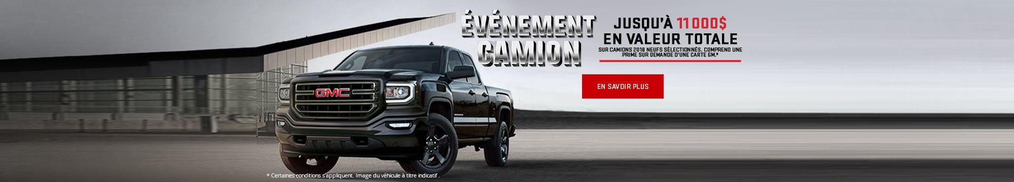 L'événement camion