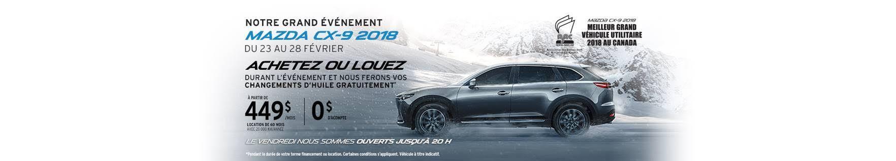 Événement Mazda CX-9 2018