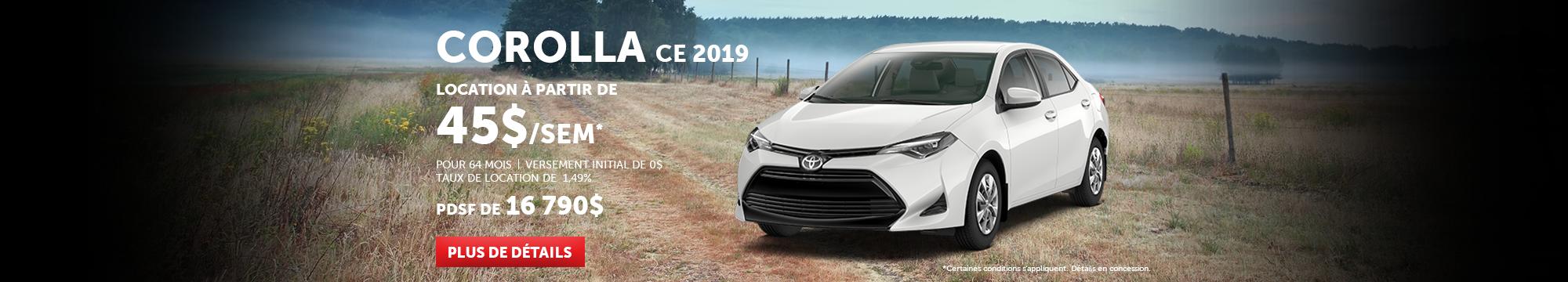 Corolla CE 2019