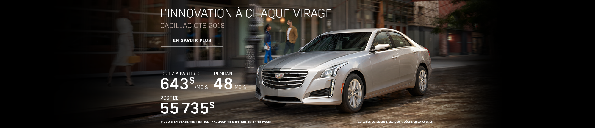 CADILLAC CTS 2018 À TRACTION INTÉGRALE