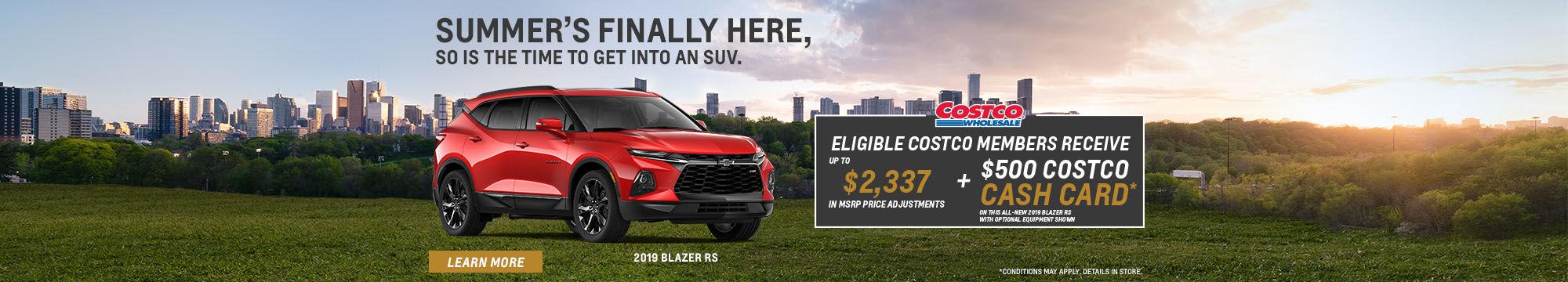 Costco - Preferred pricing Chevrolet Blazer