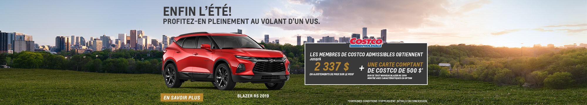 Costco - Prix préférentiel Chevrolet Blazer