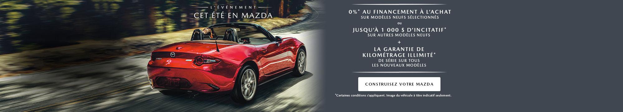 Cet été en Mazda