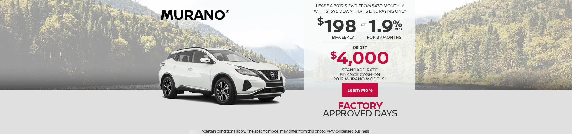 Get the Murano today!