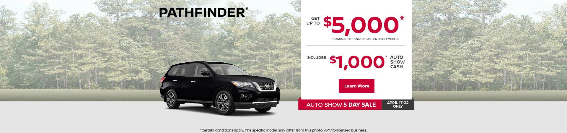 Get the 2019 Nissan Pathfinder !