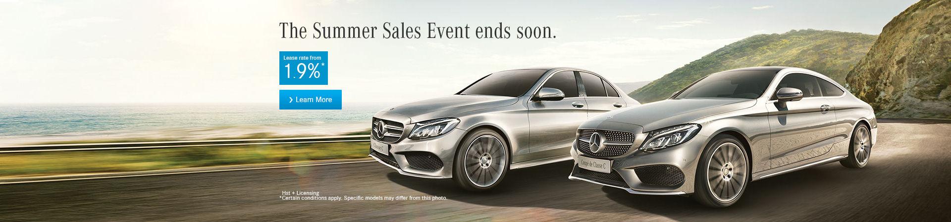 Mercedes Summer Sales Event - HEADER