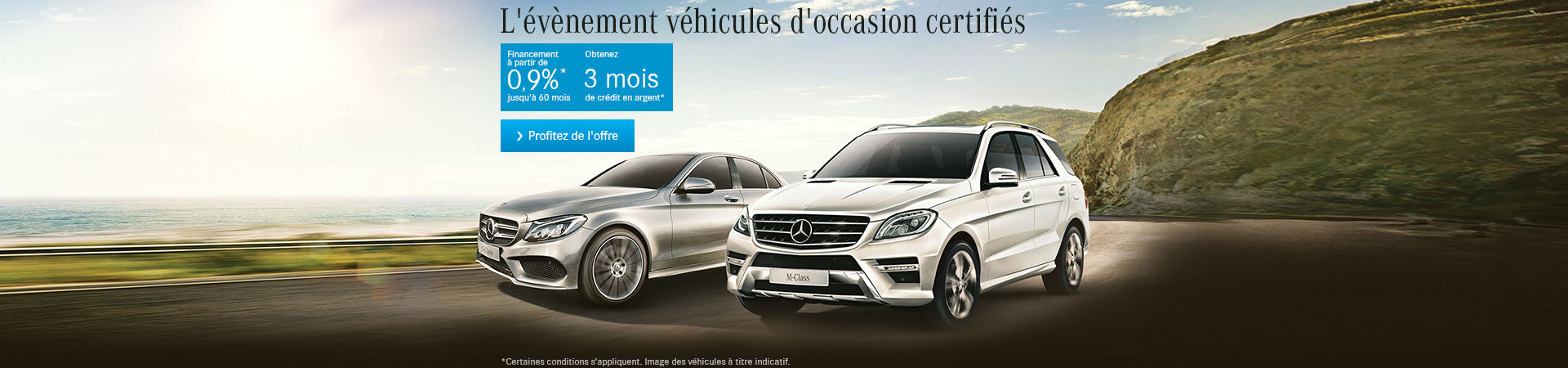 L'évènement véhicules d'occasion certifiés