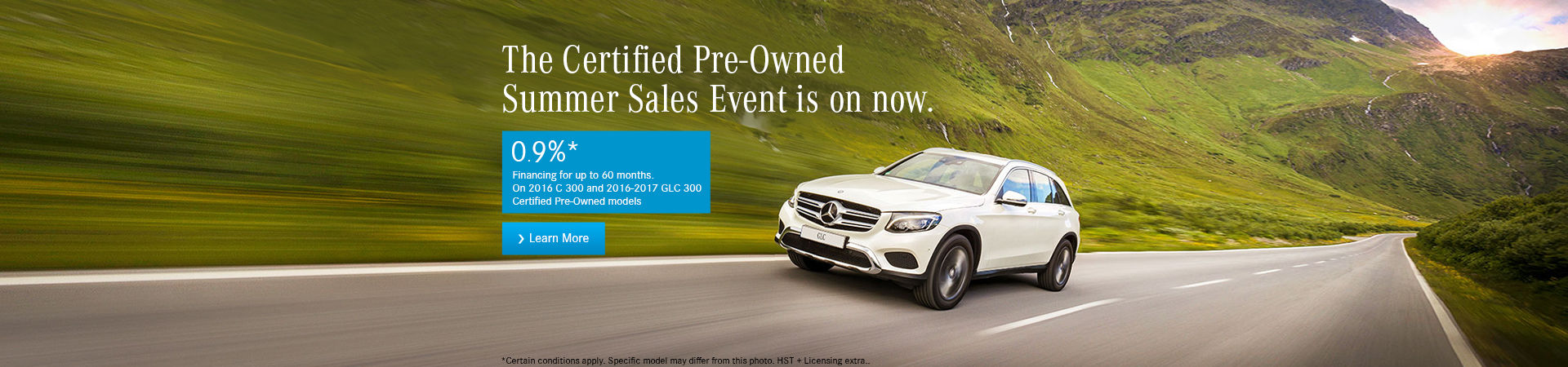 Certified pre-owned vehicle sales event