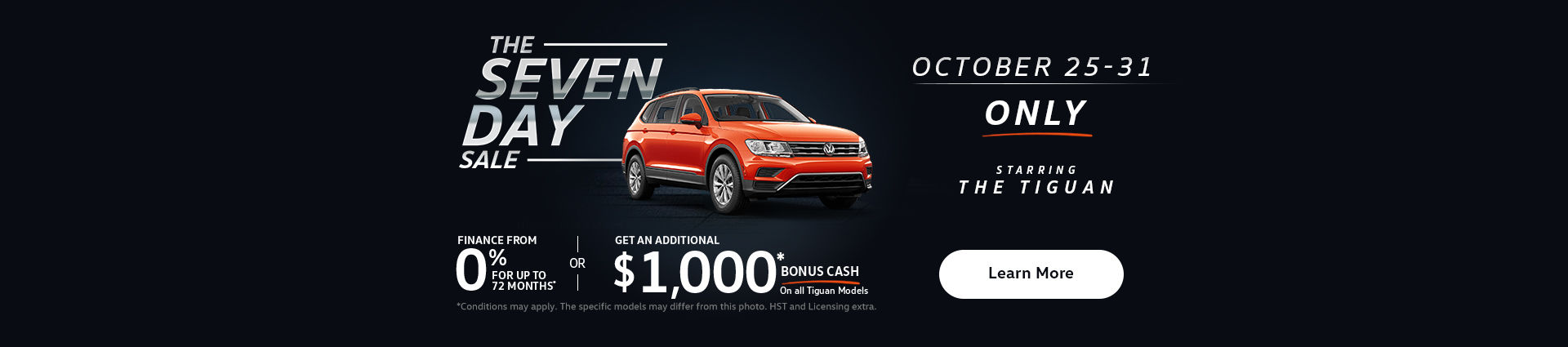 tiguan 7 day sale