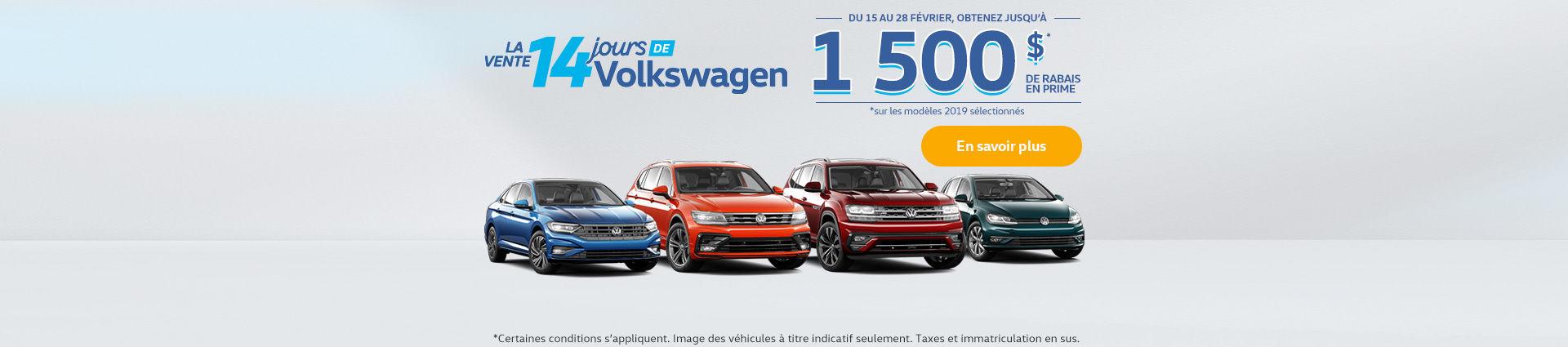 La vente 14 jours de Volkswagen