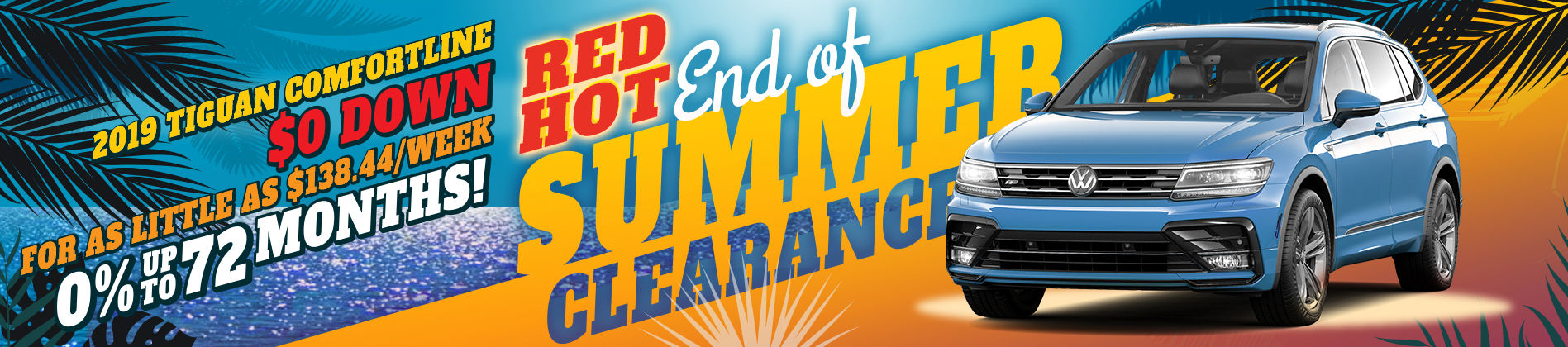 Red Hot End of Summer Clearance