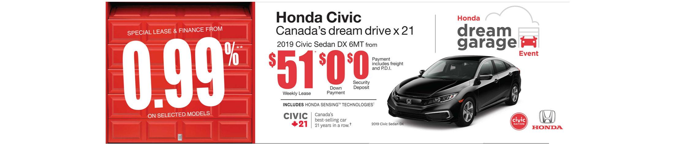 2019 Honda Civic Offer