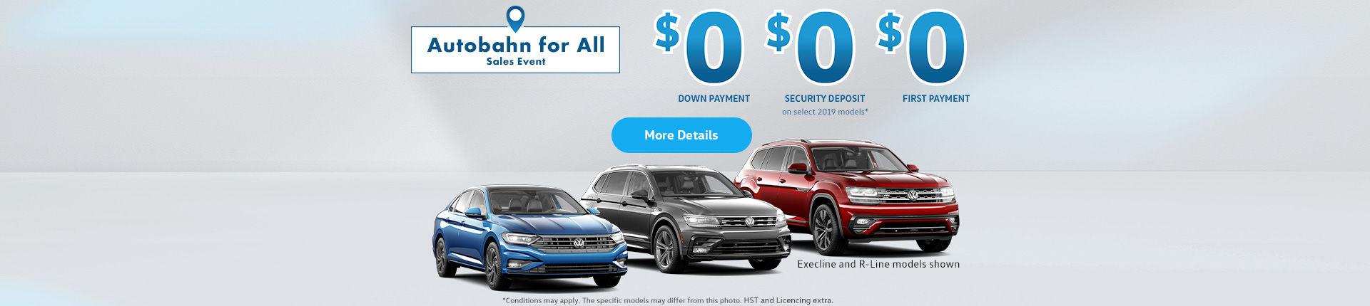 Volkswagen Autobahn Sales Event