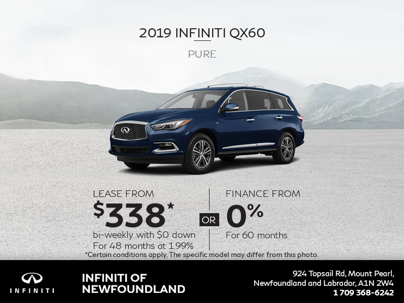 Get a new 2019 INFINITI QX60 today!