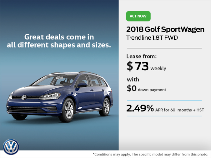 Get the 2018 Golf SportWagen Today